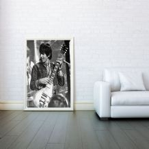 Keith Richards, Rolling Stones Mosaic, Digital Illustration Giclee Art Print Mixed Media, Prints & Posters, Wall Art Print,Any Size
